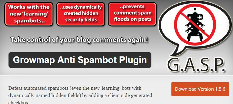 Growmap Anti Spambot Plugin