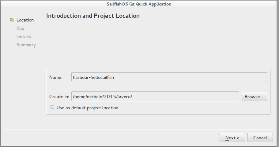 Project location and name