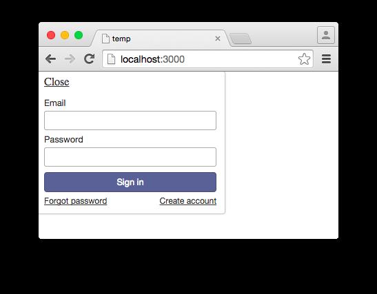 login buttons template