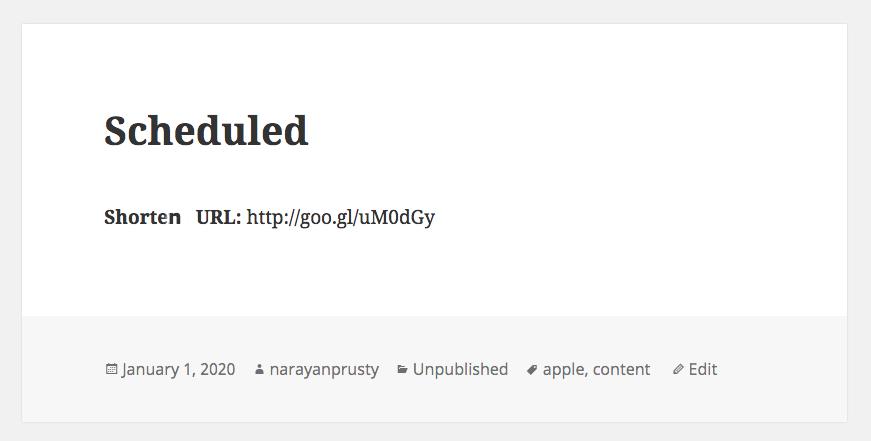 Shortened URL Example