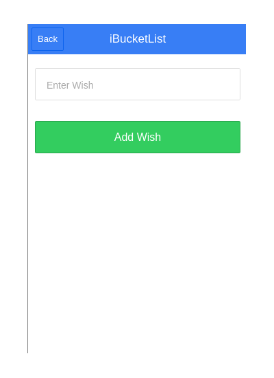 Add Wish Page