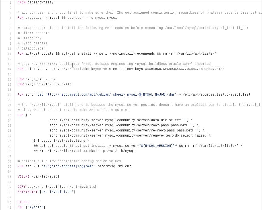 Docker - MySQL buildfile