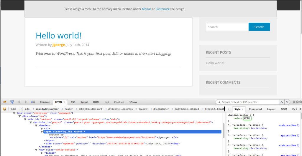 CSS in Firebug
