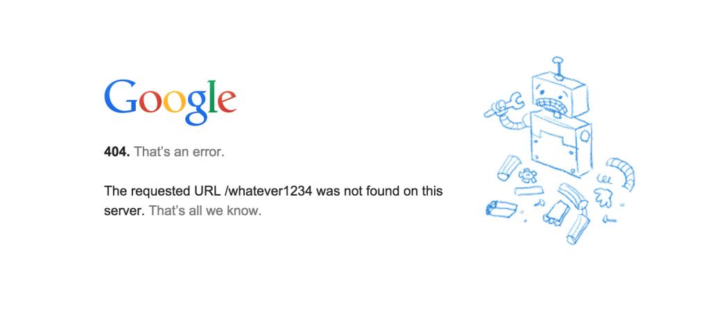 Google 404