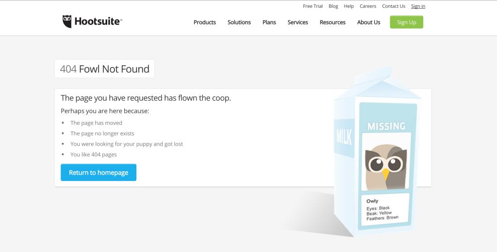 Hootsuite 404