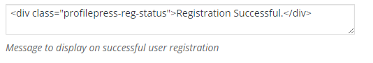 Registration Success