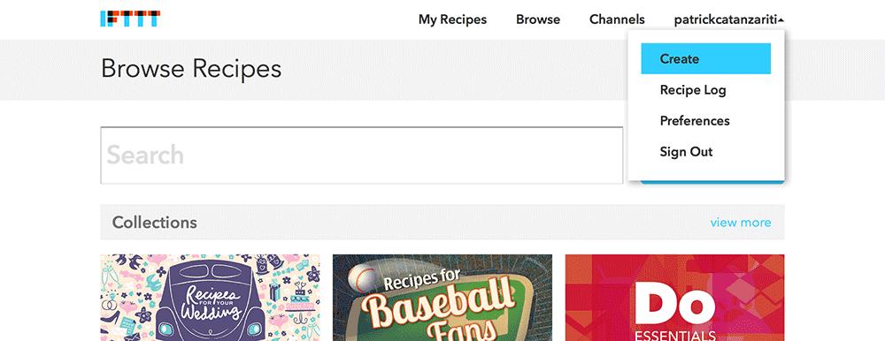 Create recipe