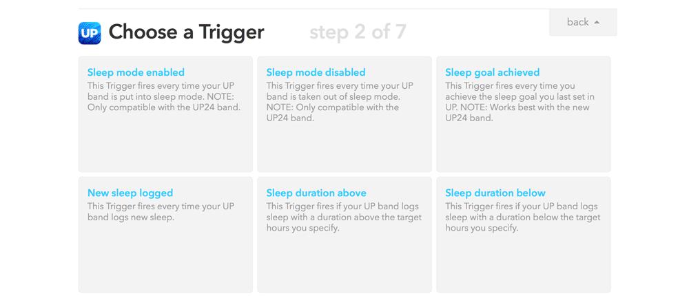IFTTT Choose UP Trigger