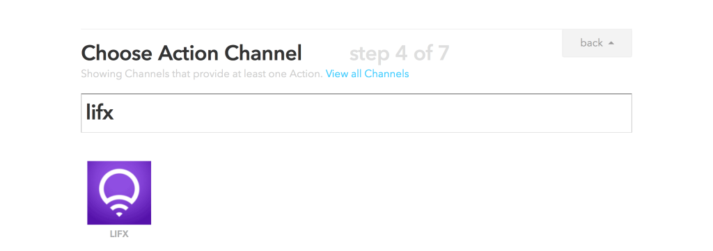 IFTTT Choose UP Action Channel