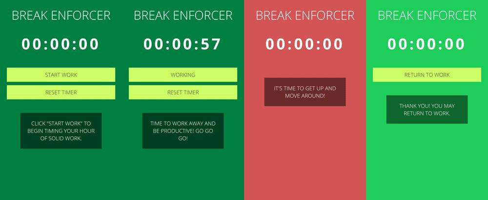 Break Enforcer Running App