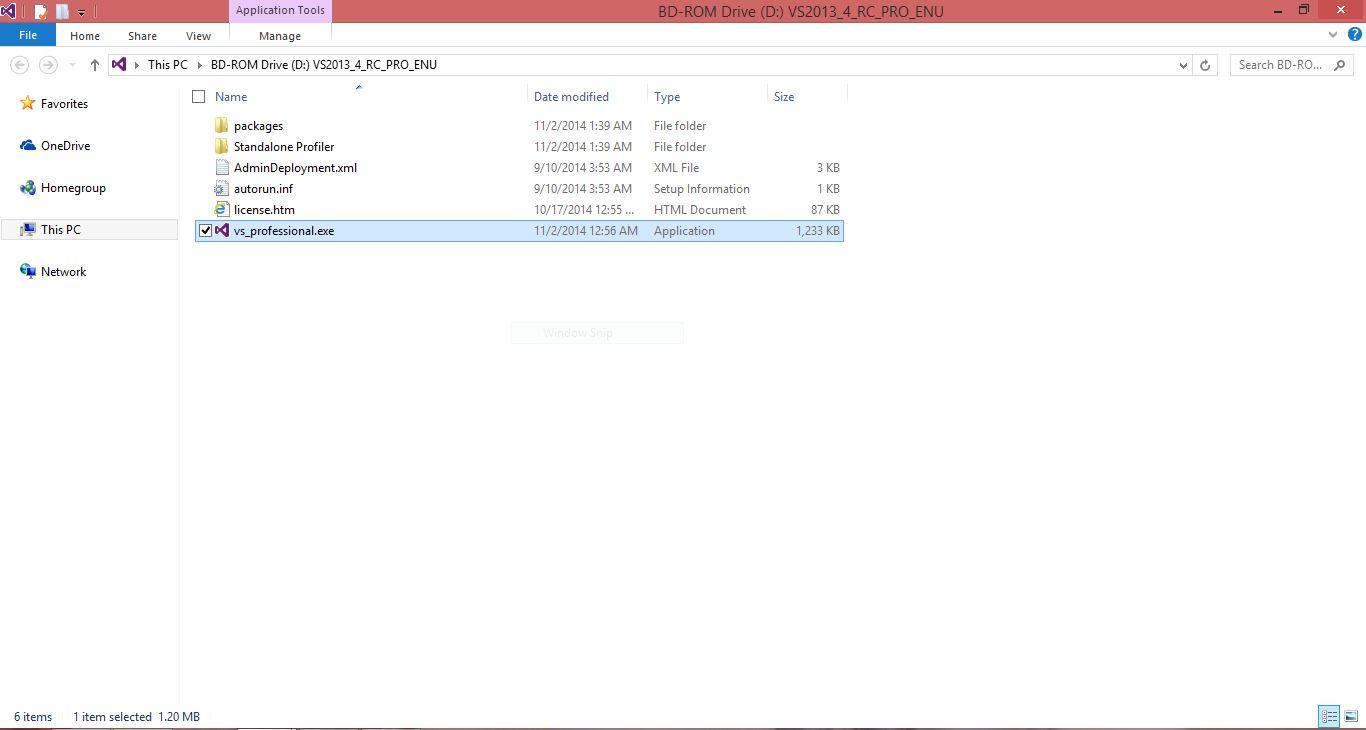 VS Installation files