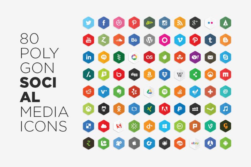 Social - 13 - free_vector_polygon_social_media_icons_by_lunarpixel-