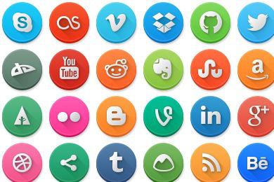 Social - 11 - Circle Icons-