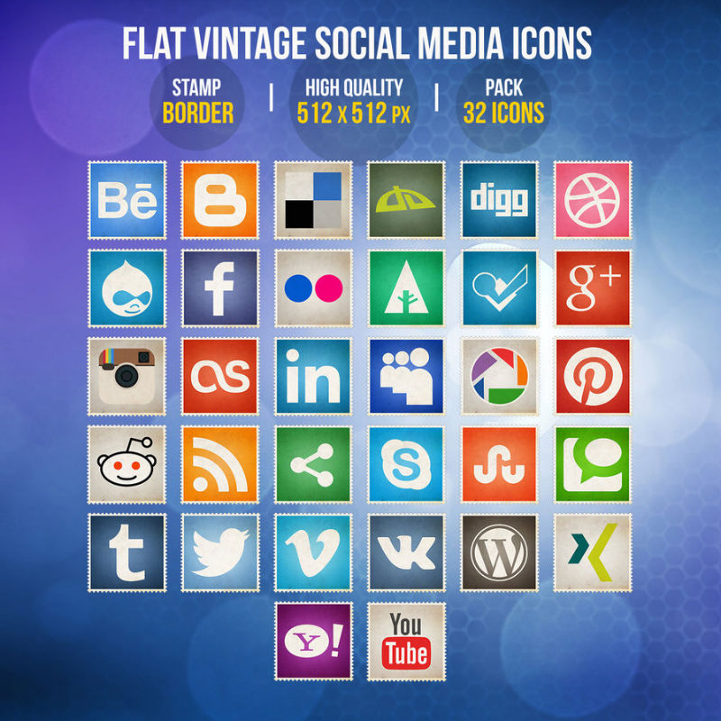 Social - 08 - flat_vintage_social_media_icons_by_limav-d77o4gn-w800