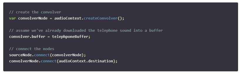 Create a Convoler node