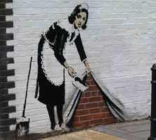 Graffiti art: Sweep it away