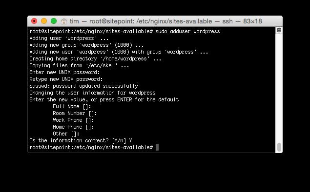Creating a SSH Login