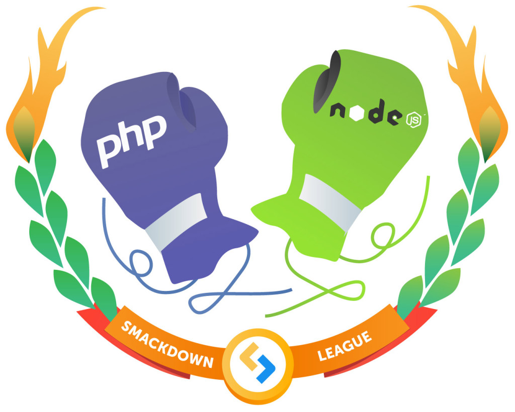 The PHP vs Node gloves are on