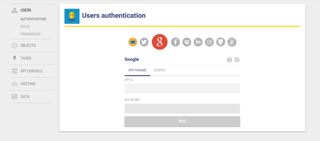 Using Google+ Authentication