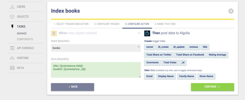 Index Books Task