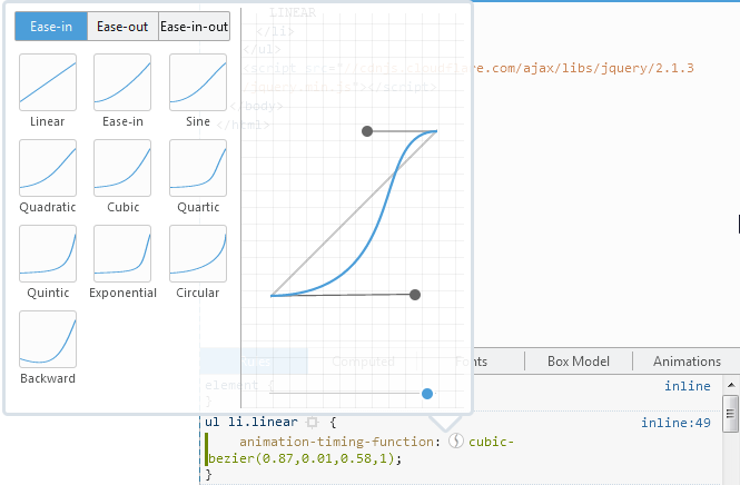 Bezier options in Firefox 39