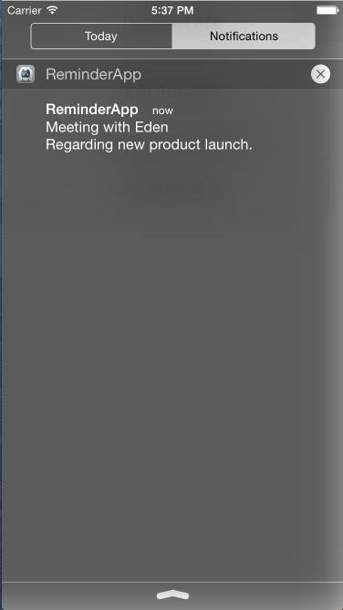 iOS Local Notification