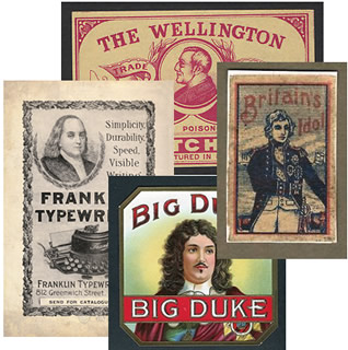 Wellington, Nelson and Franklin promoting products.