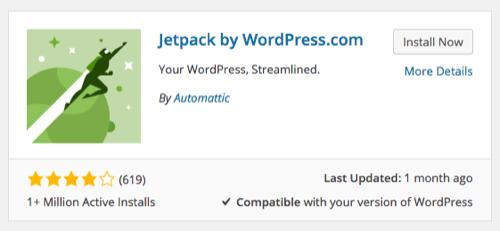 Jetpack WordPress Plugin Installation