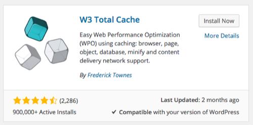 W3 Total Cache Plugin Installation