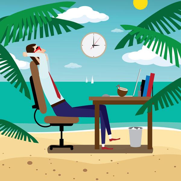freelancer relaxing