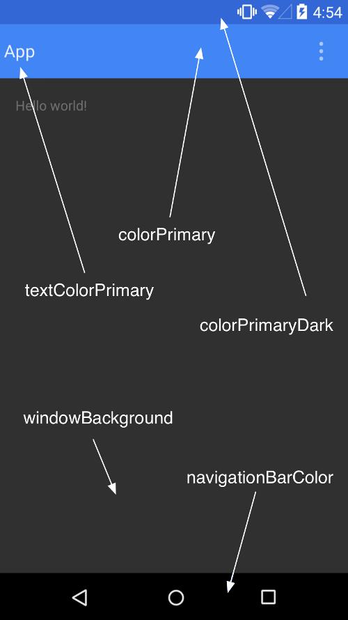 Material Design Color Palette