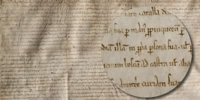 The original Magna Carta document