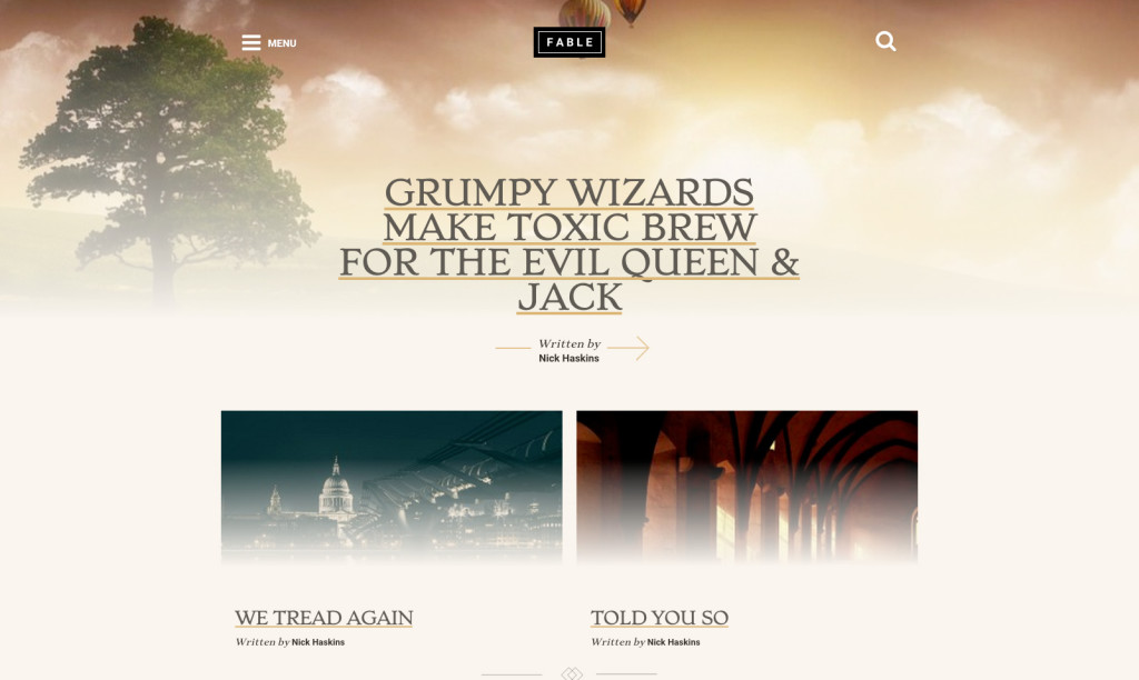 Aesop Story Engine Fable Theme