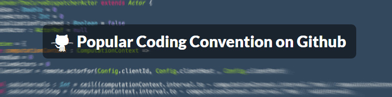 Popular Coding Convention on Github