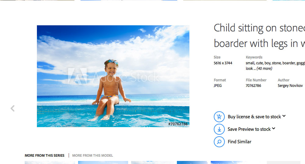 An example of stock imagery spaced away from the text