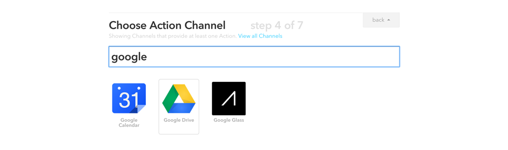 Choosing Google Drive Channel