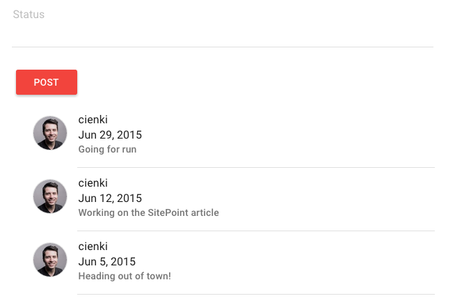 Screen shot 4 of real-time status app
