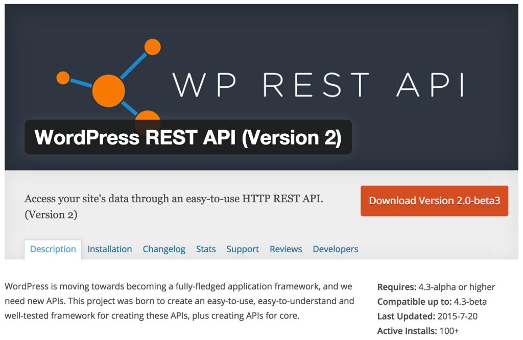 WP API WordPress plugin