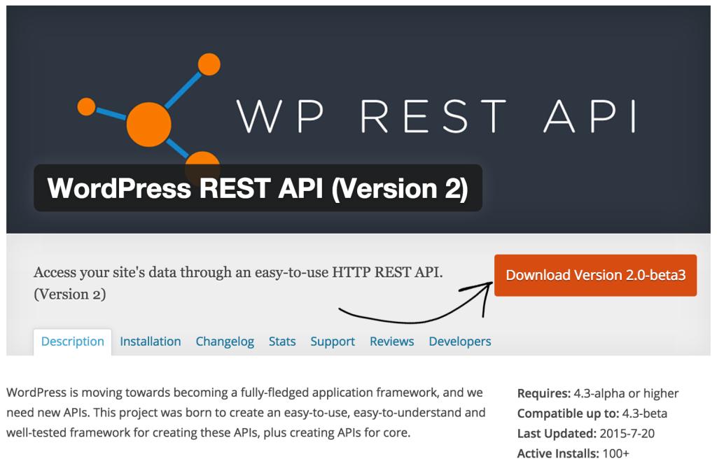 WP REST API WordPress plugin download