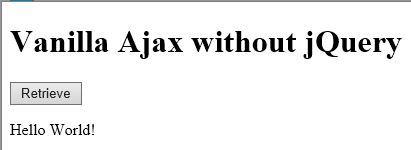 Screenshot of Ajax response