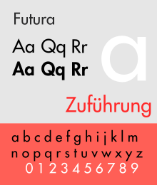 Futura by Paul Renner