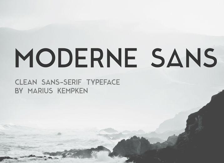 Font: Moderne Sans