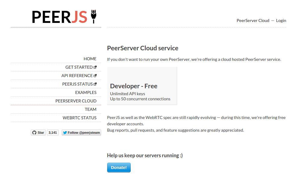 peerserver cloud service
