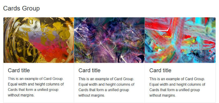 Cards Group Component