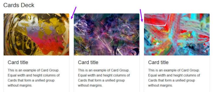 Cards Deck Component