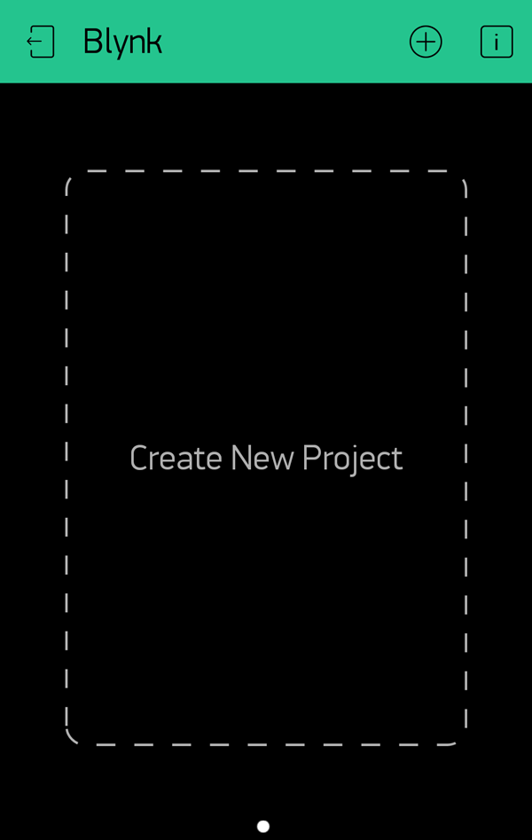 Creating New Blynk Project