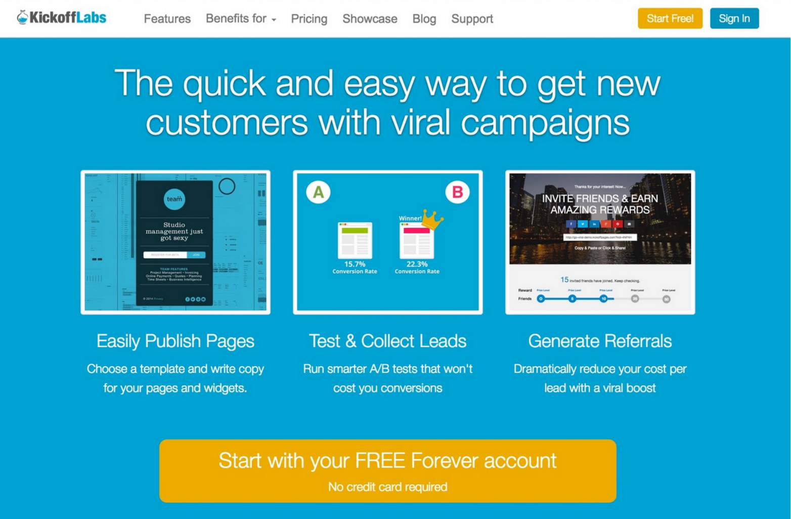 KickoffLabs has a unique feature to help you reward strong influencers, offering automated emails to target them.
