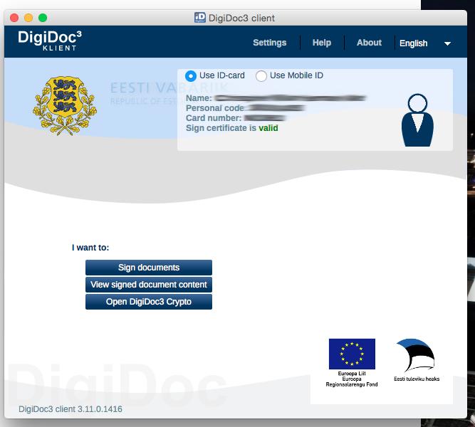 DigiDoc Klient screen shot