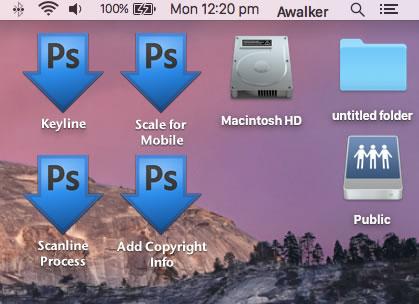Droplets on a desktop.