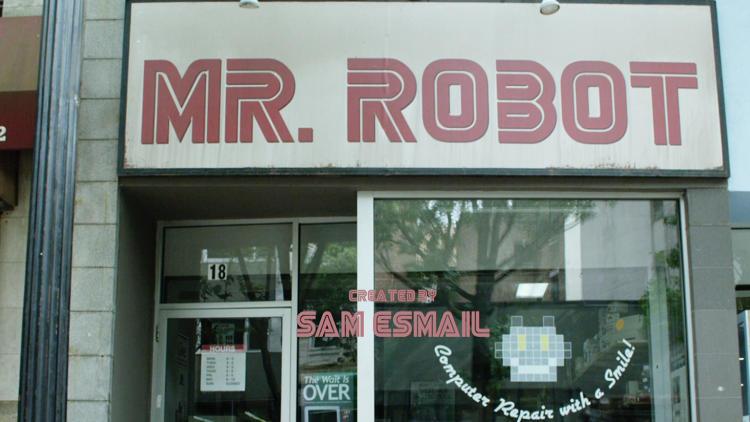 Mr. Robot title panel #4 - the shop